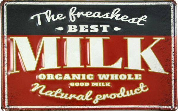 Blechschild Best Milk