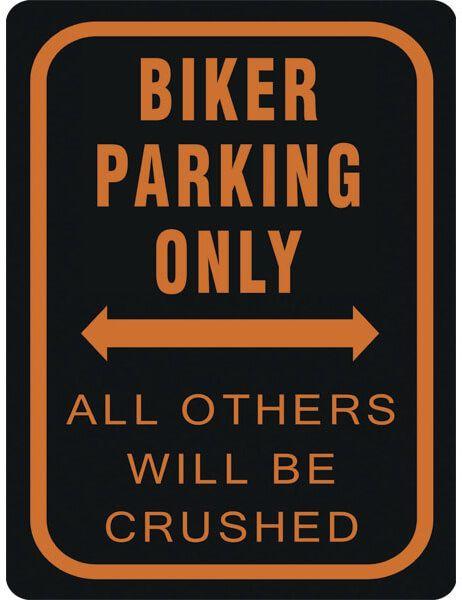 Blechschild Biker Parking Only, XL