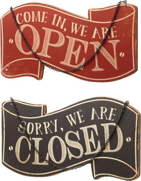 Schild Open – Close