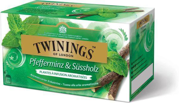 Twinings Pfefferminz & Süssholz Tee, 25 Teebeutel (50 g)