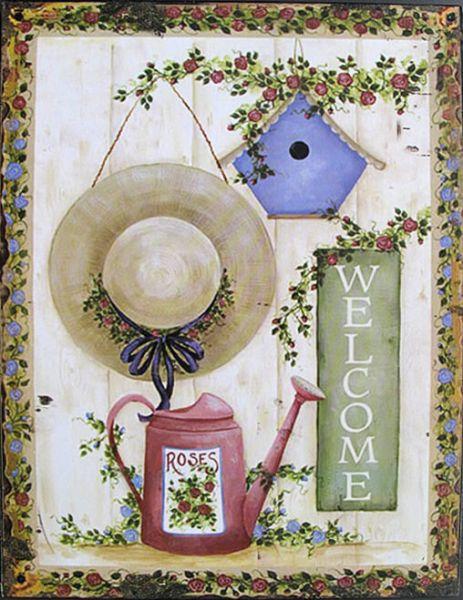 Blechschild Welcome