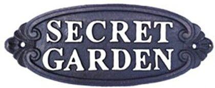 Schild Secret Garden, Eisen