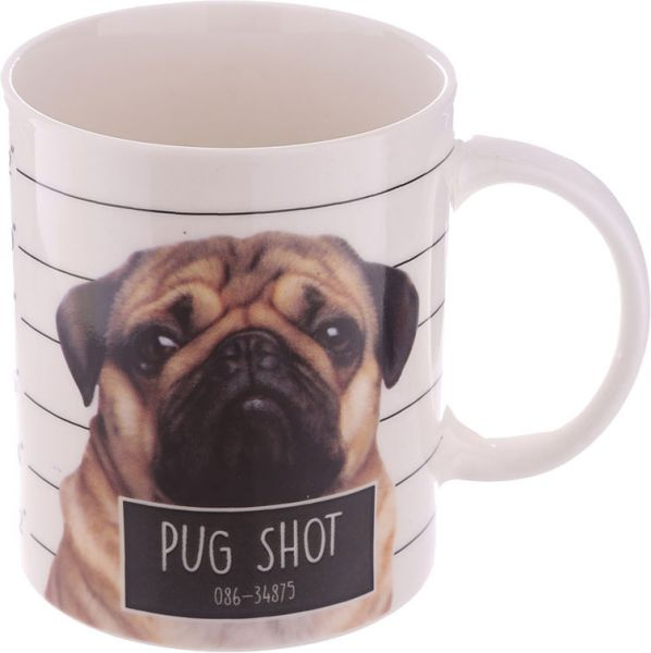 Becher Mops Pug Shot