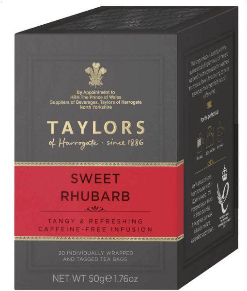 Taylors of Harrogate Sweet Rhubarb, 20 Teebeutel (50 g)