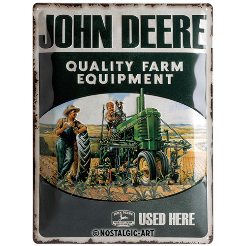 Schild John Deere Quality Farm Equipment