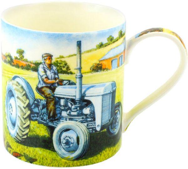 Becher Klassischer hellblauer Traktor