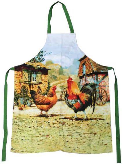 Küchenschürze Hahn und Henne