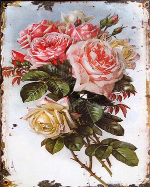Blechschild Roses