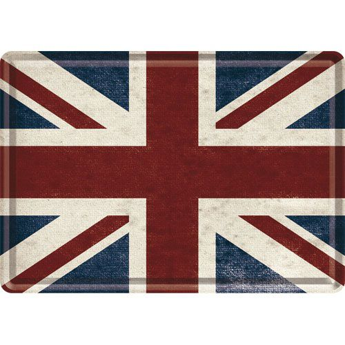 Blechpostkarte Union Jack