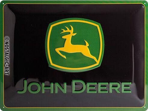 Blechschild John Deere Logo, XL