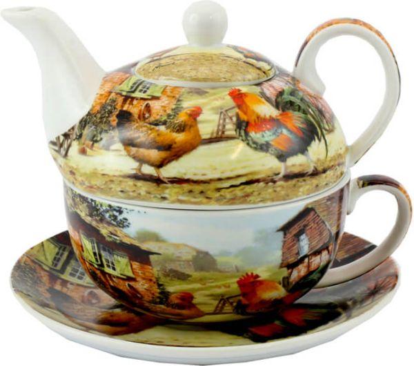 Tee-Service für eine Person Hahn & Henne