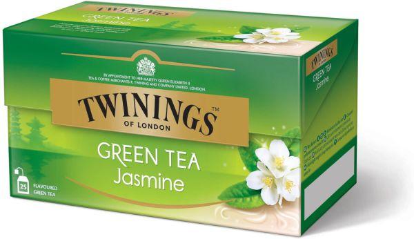Twinings Green Tea Jasmine, Grüner Tee Jasmin, 25 Teebeutel (45 g)