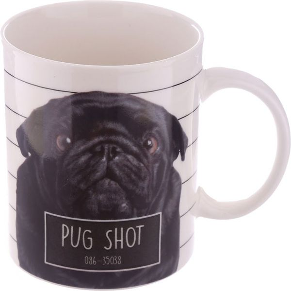 Becher Schwarzer Mops Pug Shot