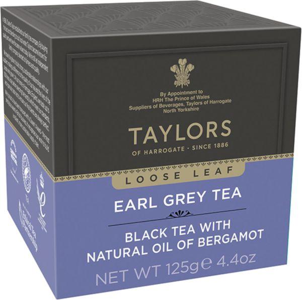 Taylors of Harrogate Earl Grey Tea, loser Tee, 125 g