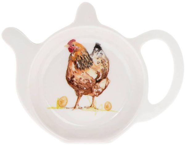 Teebeutel-Ablage Chickens - Hühner