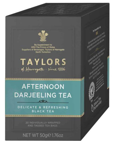 Taylors of Harrogate Afternoon Darjeeling Tea, 20 Teebeutel (50 g)