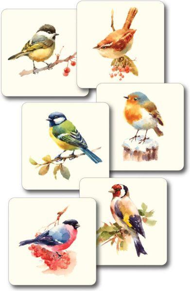 Untersetzer Garden Birds – Gartenvögel, 6er-Set