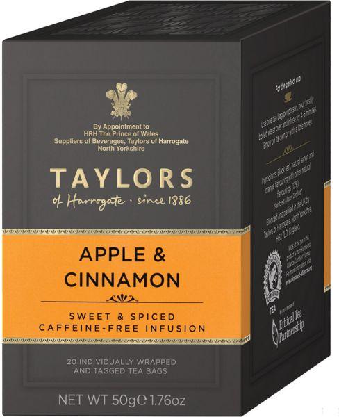 Taylors of Harrogate Apple & Cinnamon, 20 Teebeutel (50 g)