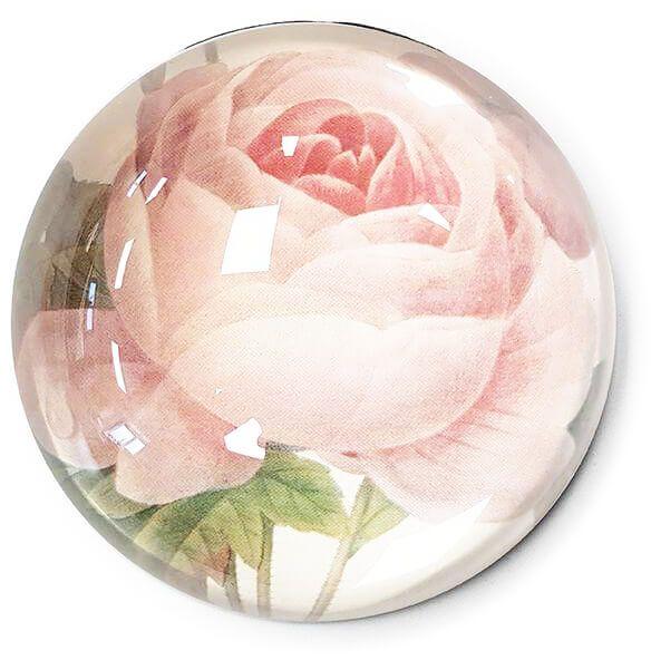 Briefbeschwerer Rose, Glas