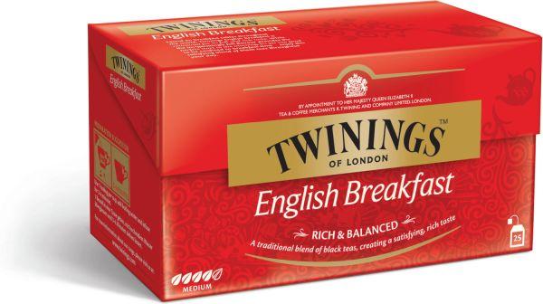 Twinings English Breakfast Tee, 25 Teebeutel (50 g)