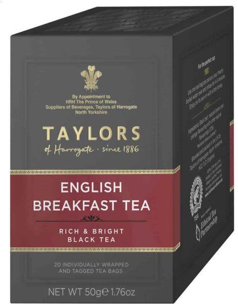 Taylors of Harrogate English Breakfast Tea, 20 Teebeutel (50 g)
