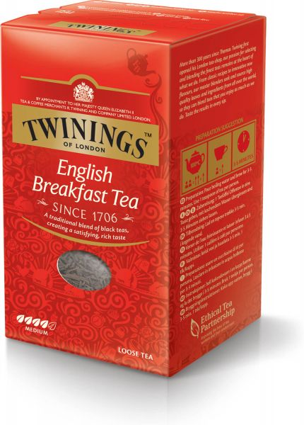 Twinings English Breakfast Tee, loser Tee (200 g)